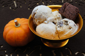 Pumpkin Brownie Ice Cream